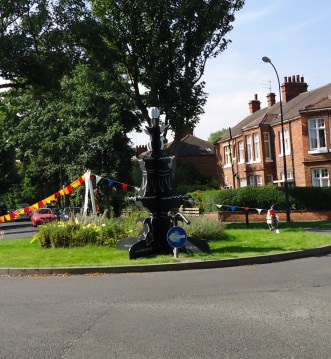 The first outing of our wooden fountain for the Avenues Heritage Walk on 8 September 2012