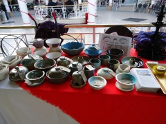 Pottery on sale in aid of the Fountain at the Green Fair on 17th November 2012