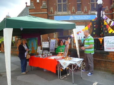 Our stall at the Vista Festival, Princes Avenue on 23rd August 2014